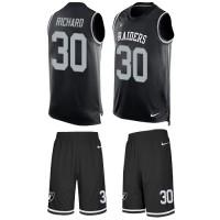 Nike Oakland Raiders #30 Jalen Richard Black Team Color Men's Stitched NFL Limited Tank Top Suit Jersey
