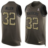Nike Oakland Raiders #32 Marcus Allen Green Men's Stitched NFL Limited Salute To Service Tank Top Jersey