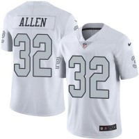 Nike Oakland Raiders #32 Marcus Allen White Men's Stitched NFL Limited Rush Jersey