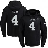 Nike Oakland Raiders #4 Derek Carr Black Name & Number Pullover NFL Hoodie