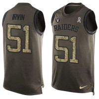 Nike Oakland Raiders #51 Bruce Irvin Green Men's Stitched NFL Limited Salute To Service Tank Top Jersey