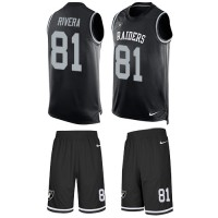 Nike Oakland Raiders #81 Mychal Rivera Black Team Color Men's Stitched NFL Limited Tank Top Suit Jersey