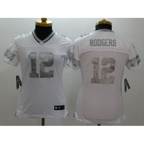 Nice Nike Packers #12 Aaron Rodgers White Women's Stitched NFL Limited  hot sale