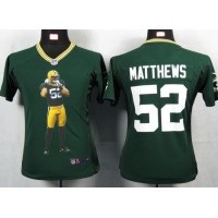 Nike Packers #52 Clay Matthews Green Team Color Women's Portrait Fashion NFL Game Jersey