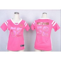 Nike Packers #52 Clay Matthews Pink Women's Stitched NFL Elite Draft Him Shimmer Jersey