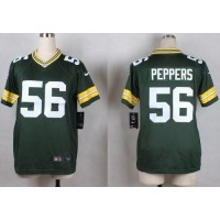 Nike Packers #56 Julius Peppers Green Team Color Youth Stitched NFL Elite Jersey