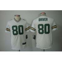 Nike Packers #80 Donald Driver White Youth Stitched NFL Limited Jersey