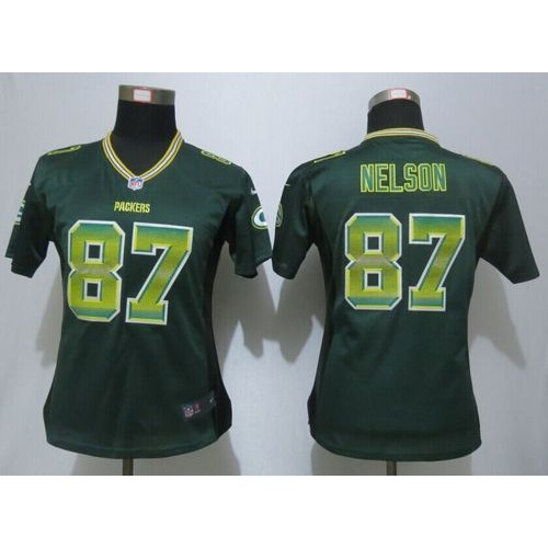 Discount Nike Packers #87 Jordy Nelson Green Team Color Women's Stitched NFL  supplier