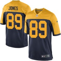 Nike Packers #89 James Jones Navy Blue Alternate Youth Stitched NFL Elite Jersey