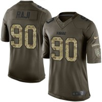 Nike Packers #90 B.J. Raji Green Youth Stitched NFL Limited Salute to Service Jersey
