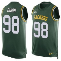 Nike Packers #98 Letroy Guion Green Team Color Men's Stitched NFL Limited Tank Top Jersey