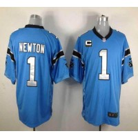 Nike Panthers #1 Cam Newton Blue Alternate With C Patch Men's Stitched NFL Game Jersey