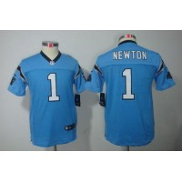 Nike Panthers #1 Cam Newton Blue Alternate Youth Stitched NFL Limited Jersey