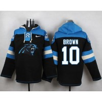 Nike Panthers #10 Corey Brown Black Player Pullover NFL Hoodie
