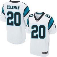 Nike Panthers #20 Kurt Coleman White Men's Stitched NFL Elite Jersey