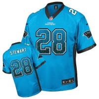 Nike Panthers #28 Jonathan Stewart Blue Alternate Men's Stitched NFL Elite Drift Fashion Jersey