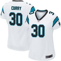 Nike Panthers #30 Stephen Curry White Women's Stitched NFL Elite Jersey