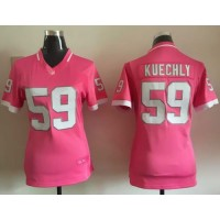 Nike Panthers #59 Luke Kuechly Pink Women's Stitched NFL Elite Bubble Gum Jersey