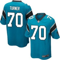Nike Panthers #70 Trai Turner Blue Alternate Youth Stitched NFL Elite Jersey