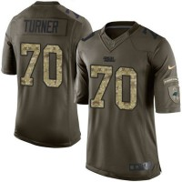 Nike Panthers #70 Trai Turner Green Men's Stitched NFL Limited Salute to Service Jersey