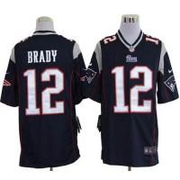 Nike Patriots #12 Tom Brady Navy Blue Team Color Men's Stitched NFL Game Jersey