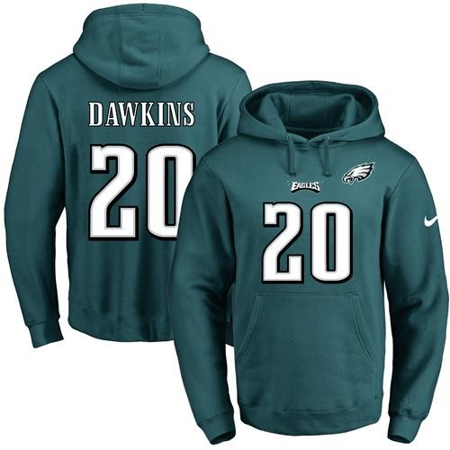 ... best price nike philadelphia eagles 20 brian dawkins midnight green  name number pullover nfl hoodie 1cf4f ... 05865f9bb