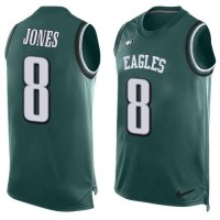 Nike Philadelphia Eagles #8 Donnie Jones Midnight Green Team Color Men's Stitched NFL Limited Tank Top Jersey