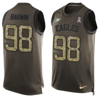Nike Philadelphia Eagles #98 Connor Barwin Green Men's Stitched NFL Limited Salute To Service Tank Top Jersey