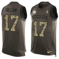 Nike Pittsburgh Steelers #17 Joe Gilliam Green Men's Stitched NFL Limited Salute To Service Tank Top Jersey