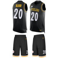Nike Pittsburgh Steelers #20 Rocky Bleier Black Team Color Men's Stitched NFL Limited Tank Top Suit Jersey