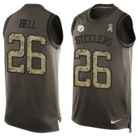 Nike Pittsburgh Steelers #26 Le'Veon Bell Green Men's Stitched NFL Limited Salute To Service Tank Top Jersey
