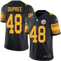 Nike Pittsburgh Steelers #48 Bud Dupree Black Men's Stitched NFL Limited Rush Jersey