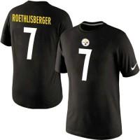 Nike Pittsburgh Steelers #7 Ben Roethlisberger Pride Name & Number NFL T-Shirt Black