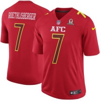 Nike Pittsburgh Steelers #7 Ben Roethlisberger Red Men's Stitched NFL Game AFC 2017 Pro Bowl Jersey