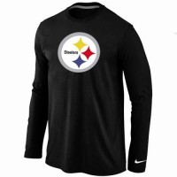 Nike Pittsburgh Steelers Logo Long Sleeve T-Shirt Black