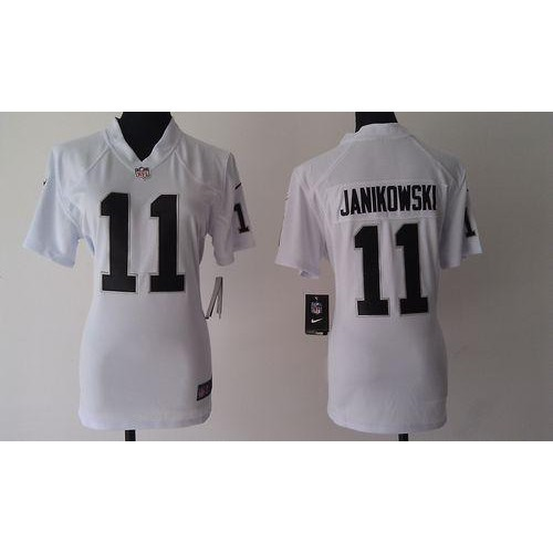 Nike Raiders  11 Sebastian Janikowski White Women s Stitched NFL Elite  Jersey 6bdc55108