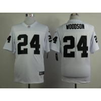 Nike Raiders #24 Charles Woodson White Men's Stitched NFL Elite Jersey