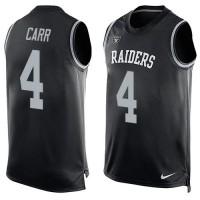 Nike Raiders #4 Derek Carr Black Team Color Men's Stitched NFL Limited Tank Top Jersey