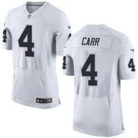 Nike Raiders #4 Derek Carr White Men's Stitched NFL New Elite Jersey