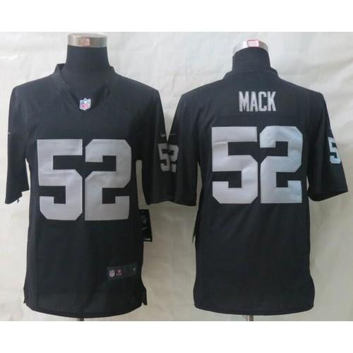 e46293766 Nike Raiders #52 Khalil Mack Black Team Color Men's Stitched NFL Game Jersey