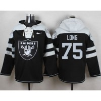 Nike Raiders #75 Howie Long Black Player Pullover NFL Hoodie