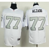 Nike Raiders #77 Lyle Alzado White Silver No. Men's Stitched NFL Elite Jersey