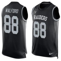 Nike Raiders #88 Clive Walford Black Team Color Men's Stitched NFL Limited Tank Top Jersey