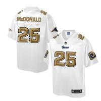 Nike Rams #25 T.J. McDonald White Men's NFL Pro Line Fashion Game Jersey