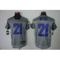Nike Ravens #21 Lardarius Webb Grey Shadow Men's Stitched NFL Elite Jersey