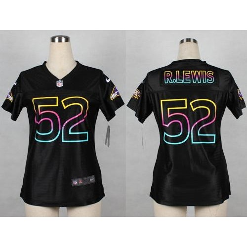 Nike Ravens  52 Ray Lewis Black Women s NFL Fashion Game Jersey c60ef01ed