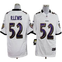 Nike Ravens #52 Ray Lewis White Men's Stitched NFL Game Jersey