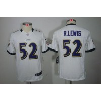 Nike Ravens #52 Ray Lewis White Youth Stitched NFL Limited Jersey