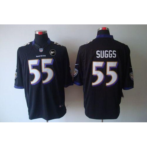 Nike Ravens  55 Terrell Suggs Black Alternate With Art Patch Men s Stitched  NFL Limited Jersey 9e61884eb