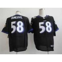 Nike Ravens #58 Elvis Dumervil Black Alternate Men's Stitched NFL Elite Jersey
